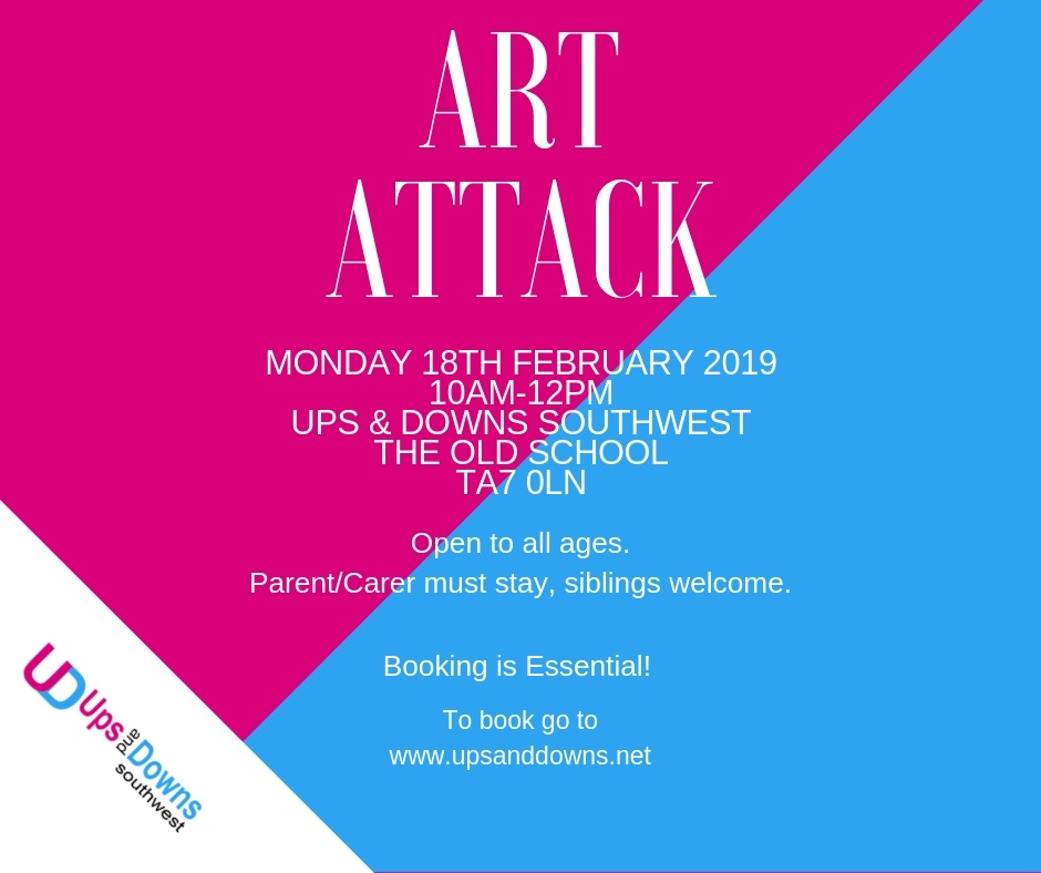 Art Attack poster - Ups and Downs Southwest