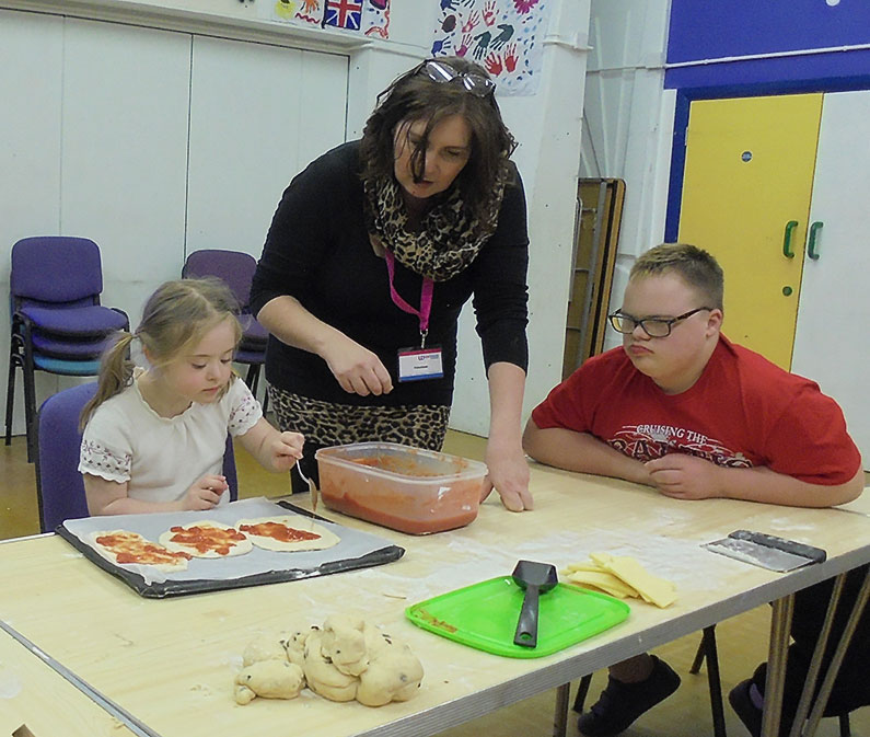 Halloween Baking - Children baking at Sherborne Youth Club