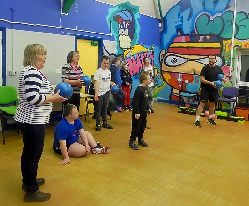 Exercise class with Craig of Communifit - Sherborne Youth Club - Ups and Downs Southwest