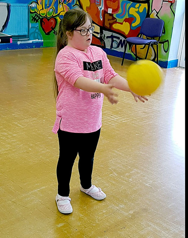 Ball Skills with Action Van Sherborne Youth Club Ups and Downs Southwest