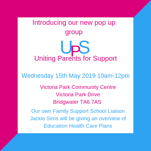 Uniting Parents for Support - Pop up Group - Ups and Downs Southwest