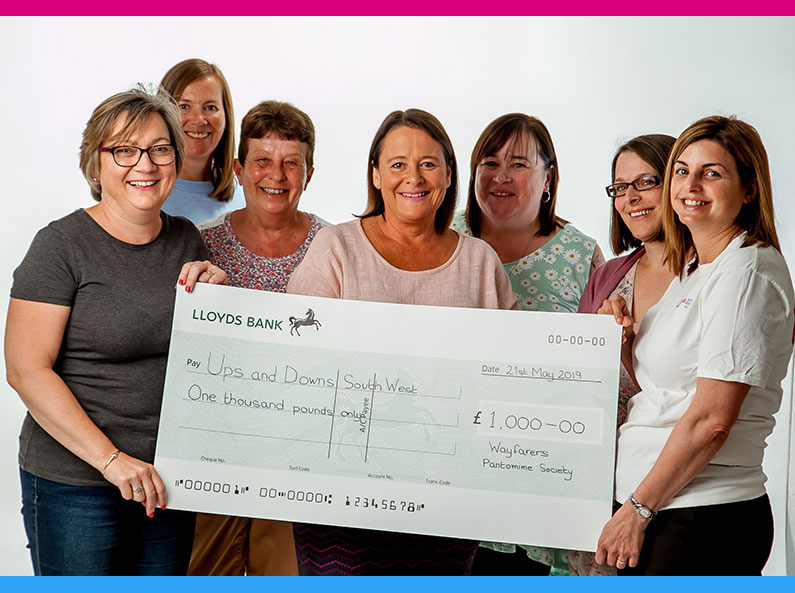 Wayfarers Pantomime Society Present Cheque