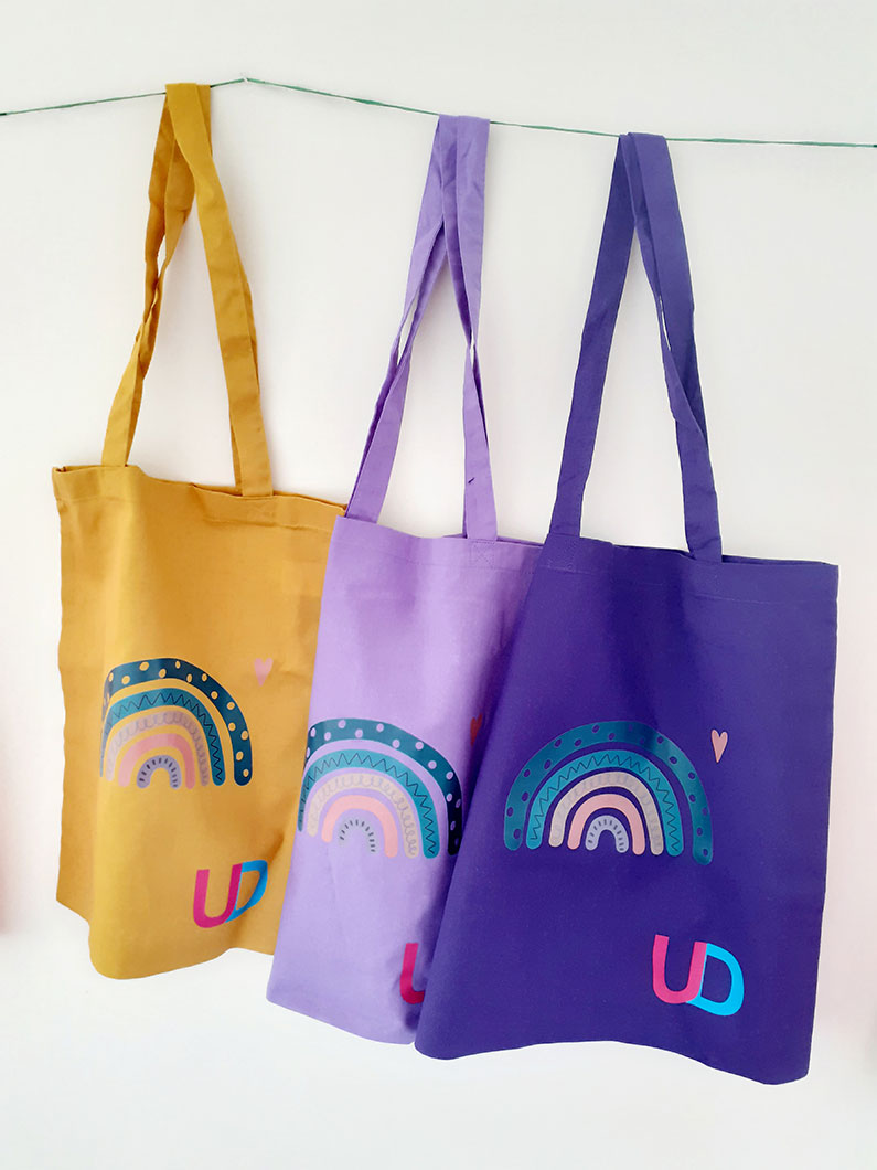 Canvas Tote Bags Ups and Downs Southwest