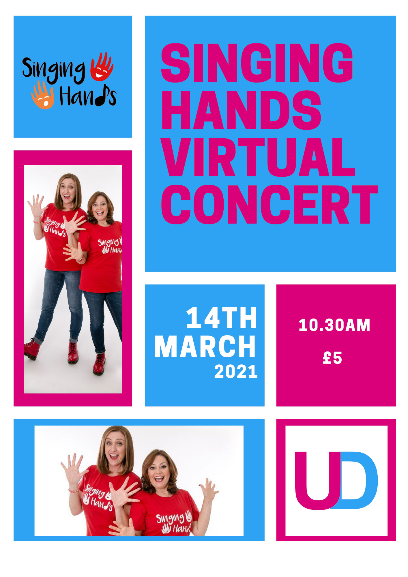 Singing Hands Virtual Concert Poster