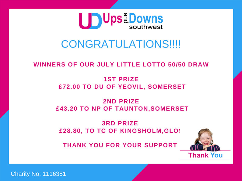 5050 Winners July 2021 Little Lotto Ups and Downs Southwest
